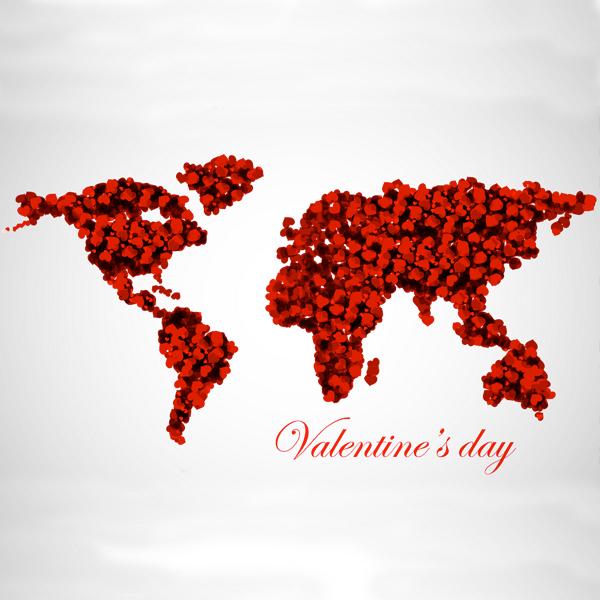 La Saint Valentin autour du monde